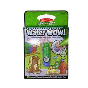 (寶) Water Wow 兒童創意畫板水畫板趣味繪畫本 #動物 (綠)