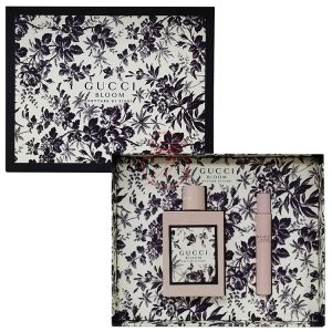 GUCCI BLOOM 黑色繁花女性香氛禮盒(淡香精100ML+滾珠7.4ML)
