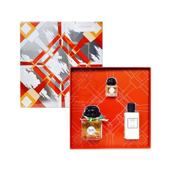 Hermes 愛馬仕 絲巾女性香水禮盒 (edp50ml+7 (3)