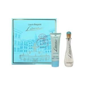 laura biagiotti 蘿拉女性香水禮盒(淡香水25ml+身體乳50ml) (2)