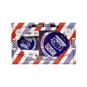 Reuzel 深藍豬強力纖維級水性髮泥禮盒35g+113g (1)